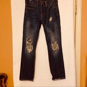 Levi's 511 distressed jeans size 30/30